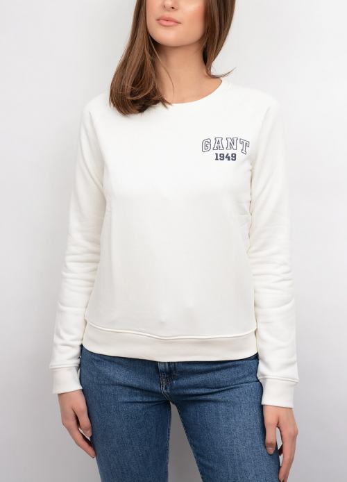 The Summer Logo C-neck Sweat, Eggshell in the group For her / Sweaters & cardigans at Elin Maria AB (14WSS-4200606-113)