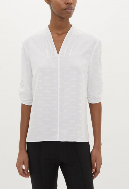JACQUARD BLOUSE, PURE WHITE in the group CLOTHES / SPRING FAVORITES at Elin Maria AB (7WSSQ66582004-090)