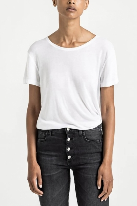 Upama Rib Top, White