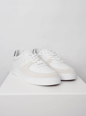 Denver Suede Sneakers, Bright White