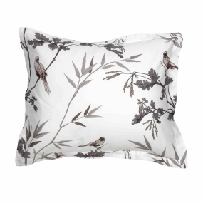Birdfield Pillowcase, Eggshell