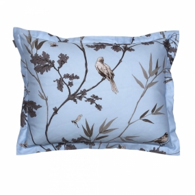 Birdfield Pillowcase, Hamptons Blue