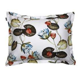 Water Lily Pillowcase, Multicolor