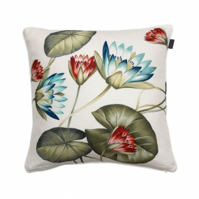 Water Lily Cushion, Multicolor