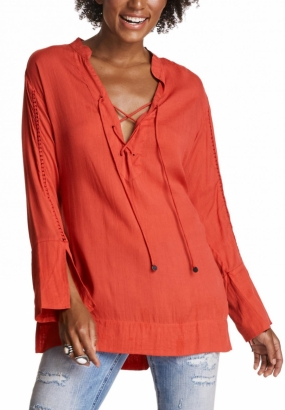SUMMER LONG TUNIC, RED