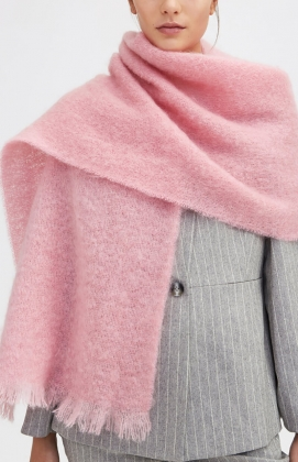 AGNA SCARF, COLD PINK