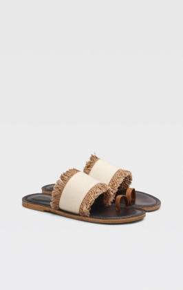 Kath Structure Sandals, Off White