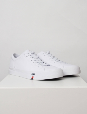 Corporate Leather Sneaker, White