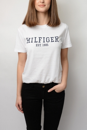 Lily C-nk Tee, Classic White