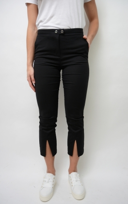 New Penny Pant With Slit, Black Beauty