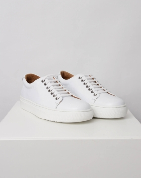 Hedda Sneakers, White Mono