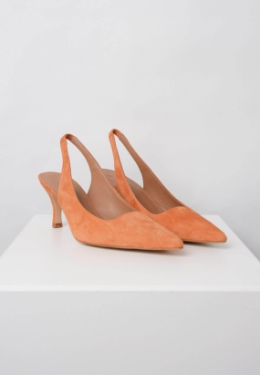 FRANCHESCA SHOES, ORANGE SUEDE