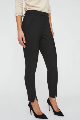 Angelie Split Pant, Black Glow