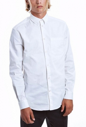 Mills Twill Shirt, Offwhite