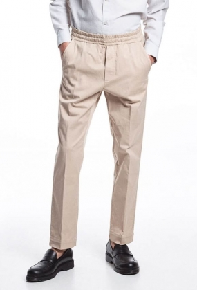 John Elastic Light Twill Trousers, Feather Grey